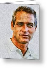 Paul Newman, Vintage Hollywood Actor Greeting Card