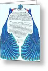 Peacocs Ketubah Greeting Card
