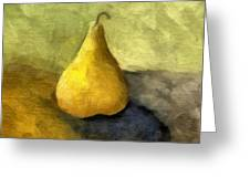 Pear Still Life Greeting Card by Michelle Calkins
