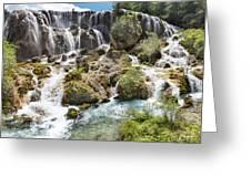 Pearl Shoal Waterfall Greeting Card