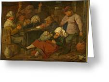Peasant Party Drink Greeting Card