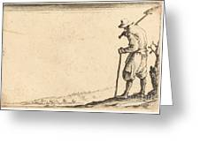 Peasant With Shovel On His Shoulder Greeting Card