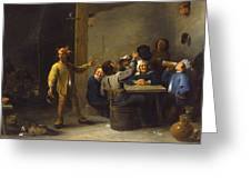Peasants Celebrating Twelfth Night Greeting Card