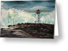 Peggy's Cove Lighthouse Hurricane Greeting Card