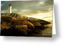 Peggys Cove Lighthouse Nova Scotia Greeting Card
