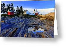 Pemaquid Point Light Reflections Greeting Card
