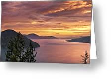 Pend Oreille Sunrise Greeting Card