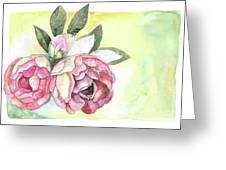 Peonies Greeting Card