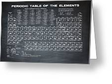 Periodic Table Of Elements In Black Greeting Card