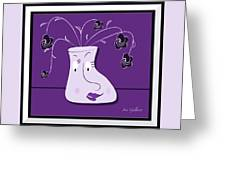 Personality Vase Greeting Card