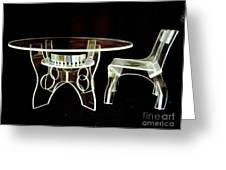 Perspex Furniture Greeting Card