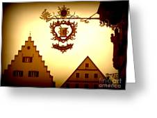 Pharmacy Sign In Rothenburg Greeting Card