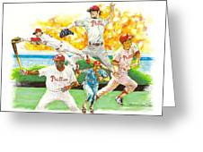 Phillies Through The Ages Greeting Card