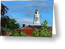 Phillips Exeter Academy Main Building Greeting Card