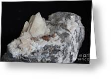 Phosphorescent Calcite On Dolomite Greeting Card