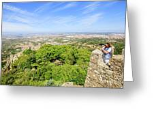 Photographer At Moorish Fortress Greeting Card