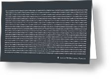 Pi To 2198 Decimal Places Greeting Card