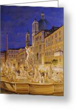 Piazza Navona, Rome Greeting Card