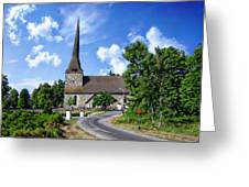 Picturesque Rural Church Greeting Card