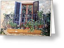 Pienza Balcony Greeting Card