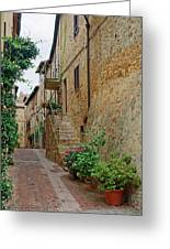 Pienza Street Greeting Card