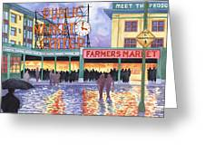 Pike Place Lights Greeting Card