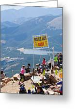Pikes Peak Marathon And Ascent Greeting Card