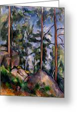 Pines And Rocks Greeting Card