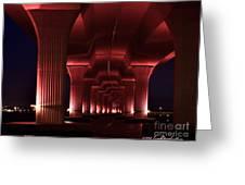 Pink Bridge 4 Greeting Card