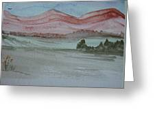 Pink Mountains Greeting Card