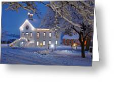 Pioneer Church At Christmas Time Greeting Card by Utah Images