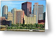 Pittsburgh Building Cluster Greeting Card
