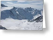 Pitztal Glacier Greeting Card