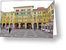Placa Mayor In Palma Majorca Spain Greeting Card