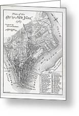 Plan Of The City Of New York Greeting Card