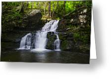 Pocono Mountains - Flowing Cascades Greeting Card