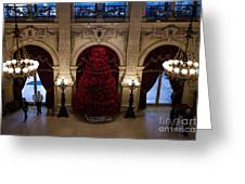 Poinsettia Christmas Tree The Breakers Greeting Card