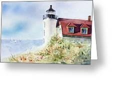 Point Betsie Greeting Card by Bobbi Price