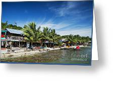 Polluted Dirty Beach With Garbage Rubbish In Koh Rong Island Cam Greeting Card
