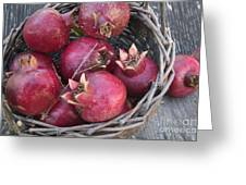 Pomegranates In A Basket Greeting Card
