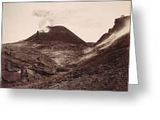 Pompeii, Mt Vesuvius Greeting Card