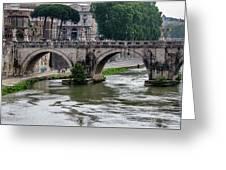 Ponte Sant'angelo Greeting Card