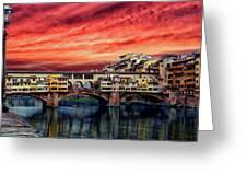 Ponte Vecchio Bridge Greeting Card