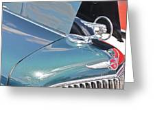 1933 Pontiac Eight Hood Ornament Greeting Card