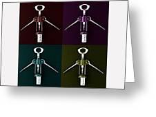 Pop Art Style Corkscrews. Greeting Card