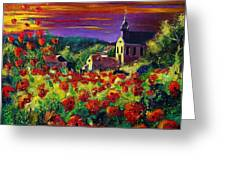 Poppies In Foy Greeting Card