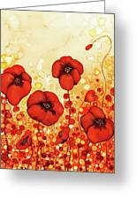 Poppin' Poppies #1 Greeting Card
