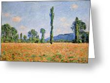 Poppy Field In Giverny  Greeting Card