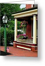 Porch With Hanging Plants Greeting Card