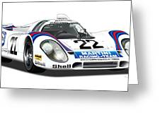 Porsche 917 Illustration Greeting Card